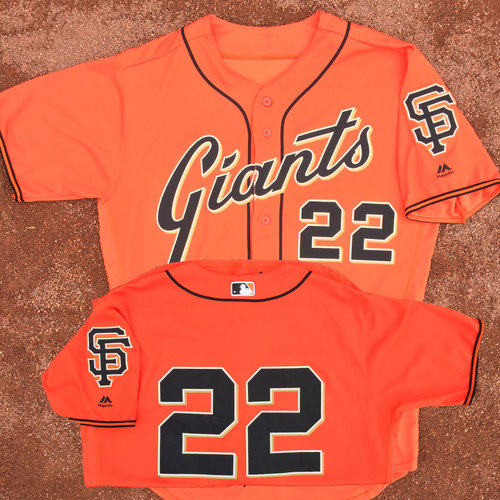 San Francisco Giants - Game-Used Jersey - Christian Arroyo - Worn on 4/28/17 - 2nd career HR (game winner in bottom 8th)
