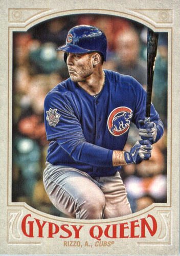Photo of 2016 Topps Gypsy Queen #89A Anthony Rizzo Cubs post-season