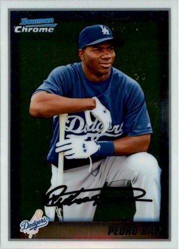 Photo of 2010 Bowman Chrome Prospects #BCP190A Pedro Baez -- Dodgers post-season