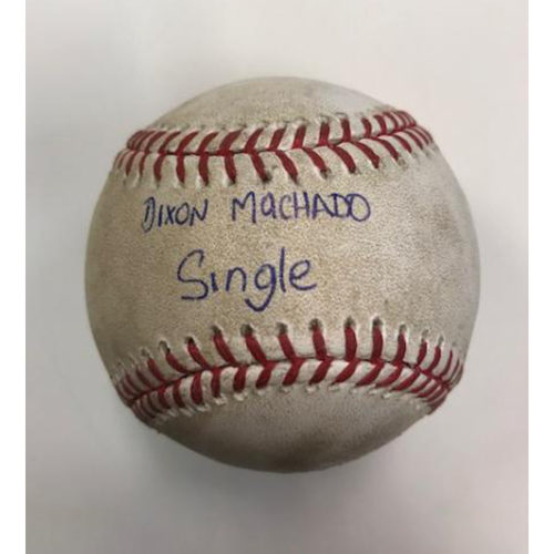 Photo of Hand Print Signature Game-Used Baseball: Dixon Machado Single