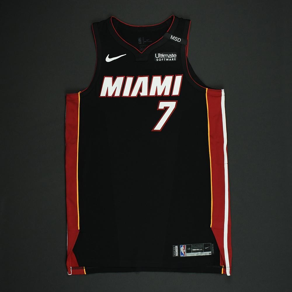 Goran Dragic - Miami Heat - 2018 NBA Playoffs Game-Worn Jersey