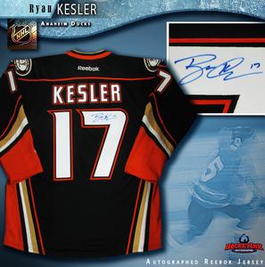 RYAN KESLER Signed Anaheim Ducks Black Reebok Jersey