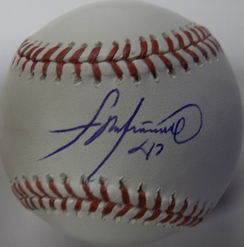 Photo of Francisco Liriano Autographed Baseball