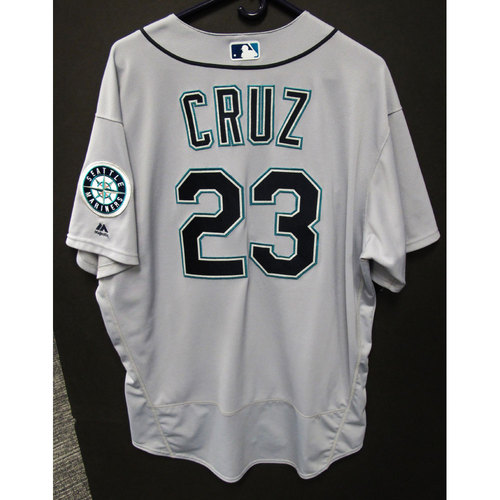 Photo of Nelson Cruz Gray 2016 Team-Issued Jersey Size 52