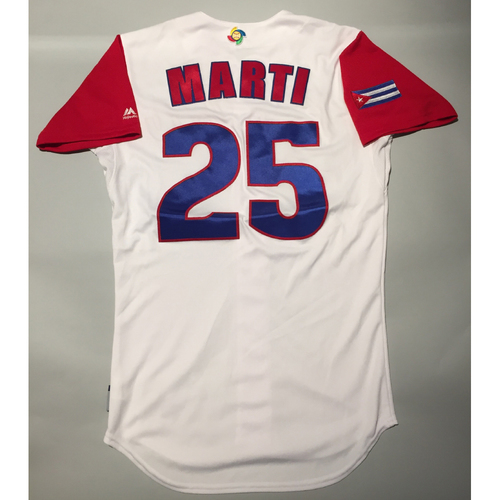 Photo of 2017 WBC: Cuba Game-Used Home Jersey, Marti #25