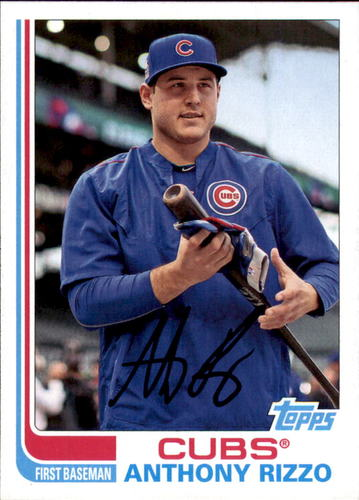 Photo of 2017 Topps Archives #161 Anthony Rizzo Cubs post-season