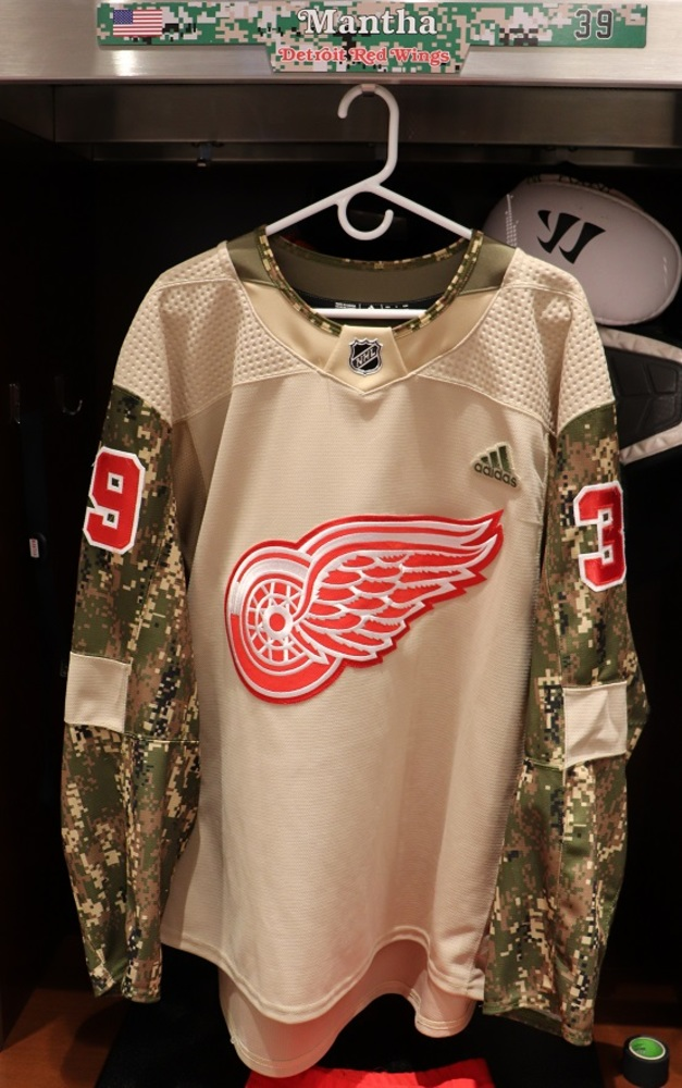 Anthony Mantha (#39) Military Appreciation Night Warm-Up Set