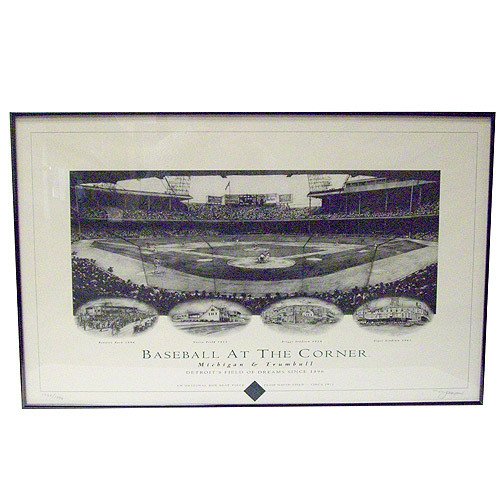 Detroit Tigers Baseball At The Corner Limited Edition Lithograph