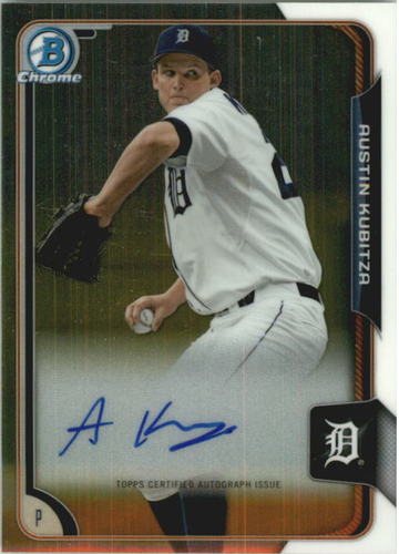 Photo of 2015 Bowman Chrome Prospect Autographs #BCAPAK Austin Kubitza