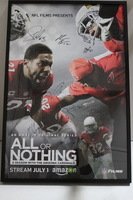 CARDINALS - ALL OR NOTHING SERIES POSTER SIGNED BY (CARSON PALMER JOHN BROWN CALAIS CAMPBELL HEAD COACH BRUCE ARIANS MIKE IUPATI PATRICK PETERSON DAVID JOHNSON TONY JEFFERSON LARRY FITZGERALD TYRANN MATHIEU)