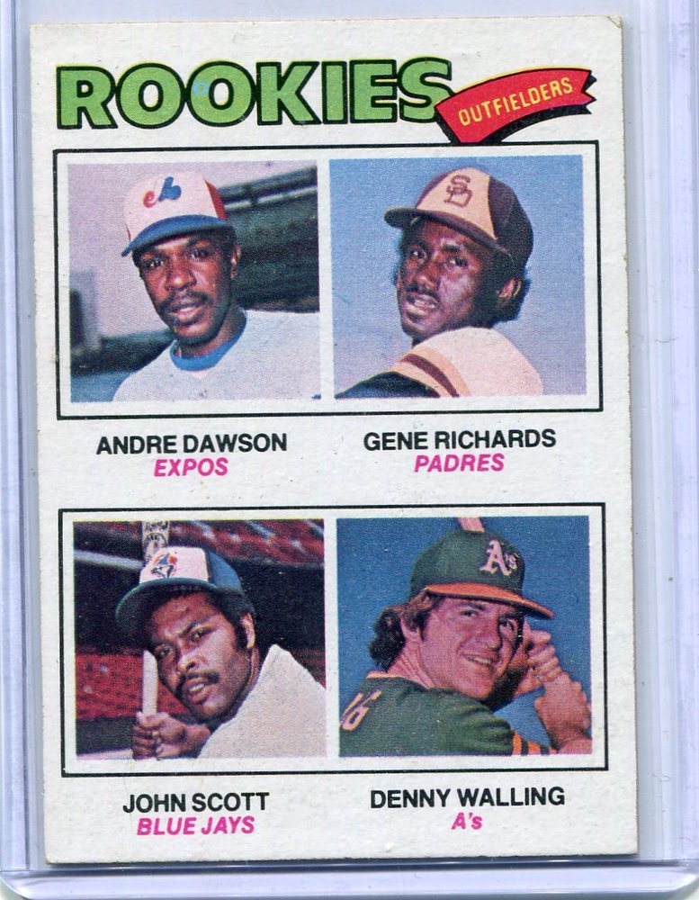 1977 Topps #473 Rookie Outfielders Andre Dawson Rookie Card -- Hall of Famer