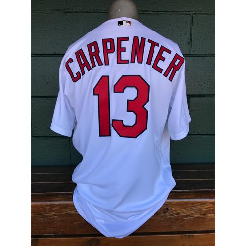 Photo of Cardinals Authentics: Matt Carpenter Team-Issued Home White Jersey