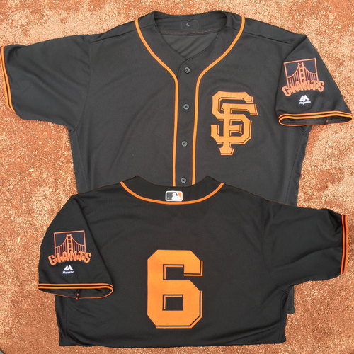 San Francisco Giants - Game-Used Jersey - Jarrett Parker - Worn on 8/5, 8/7 and 8/19 - 1st career walk-off