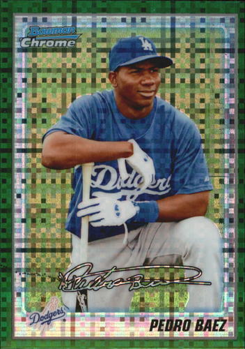 Photo of 2010 Bowman Chrome Prospects Green X-Fractors #BCP190 Pedro Baez -- Dodgers post-season