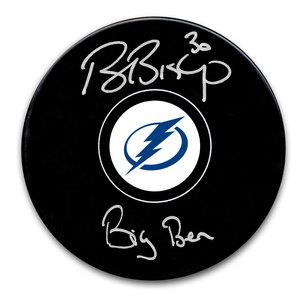 Ben Bishop Tampa Bay Lightning Big Ben Autographed Puck
