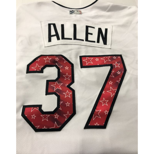 Photo of Cody Allen Game Worn Stars & Stripes Jersey