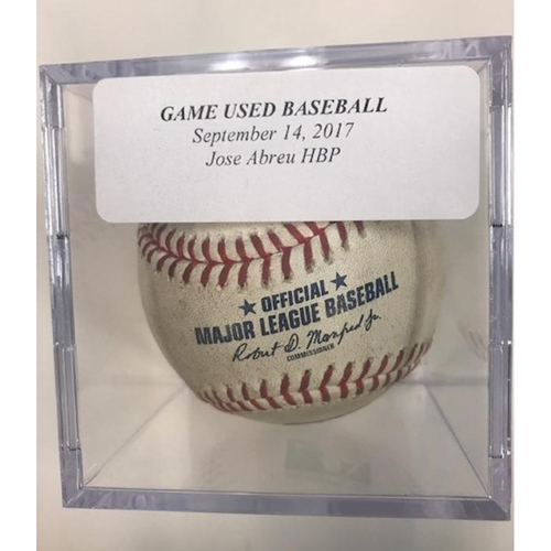 Photo of Game-Used Baseball: Jose Abreu Hit by Pitch