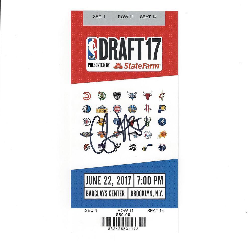 Caleb Swanigan - Portland Trail Blazers - 2017 NBA Draft - Autographed Draft Ticket