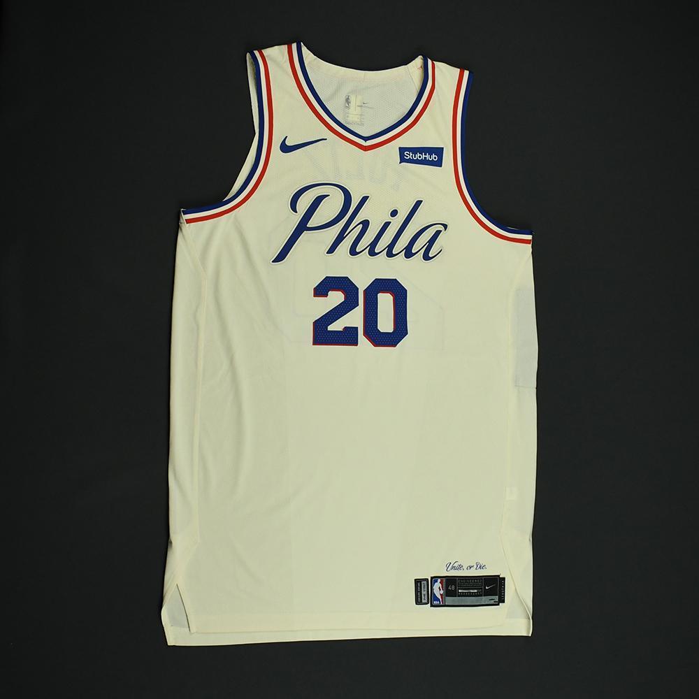 Markelle Fultz - Philadelphia 76ers - Game-Issued 'City' Jersey - 2017-18 Season