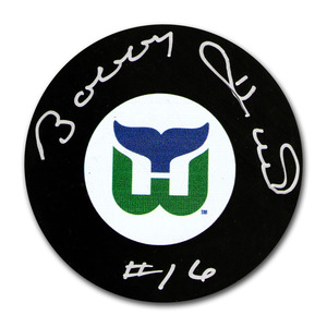 Bobby Hull Autographed Hartford Whalers Puck