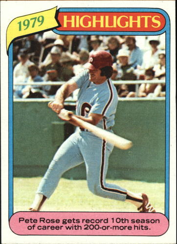 Photo of 1980 Topps #4 Pete Rose HL