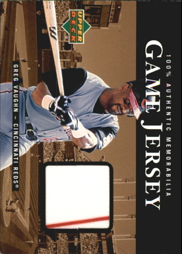 Photo of 2000 Upper Deck Game Jersey #GV Greg Vaughn HR1