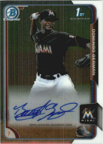 Photo of 2015 Bowman Chrome Prospect Autographs #BCAPDGE Domingo German