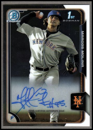Photo of 2015 Bowman Chrome Prospect Autographs #BCAPMM Marcos Molina