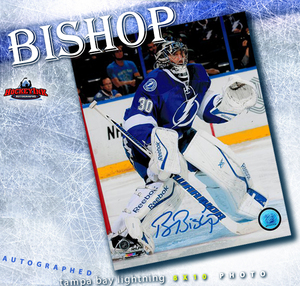 BEN BISHOP Signed Tampa Bay Lightning 8 X 10 Photo - 70476