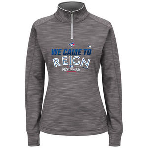 Women's We Came to Reign 2016 Postseason 1/4-Zip Streak Fleece Grey by Majestic