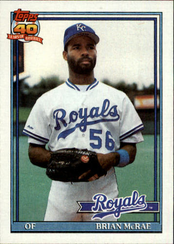 Photo of 1991 Topps #222 Brian McRae RC