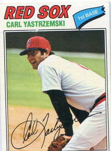Photo of 1977 Topps #480 Carl Yastrzemski -- Hall of Famer
