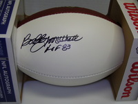 HOF - BROWNS BOBBY MITCHELL SIGNED PANEL BALL