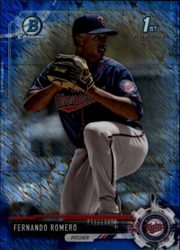 Photo of 2017 Bowman Chrome Prospects Blue Shimmer Refractors #BCP134 Fernando Romero RC
