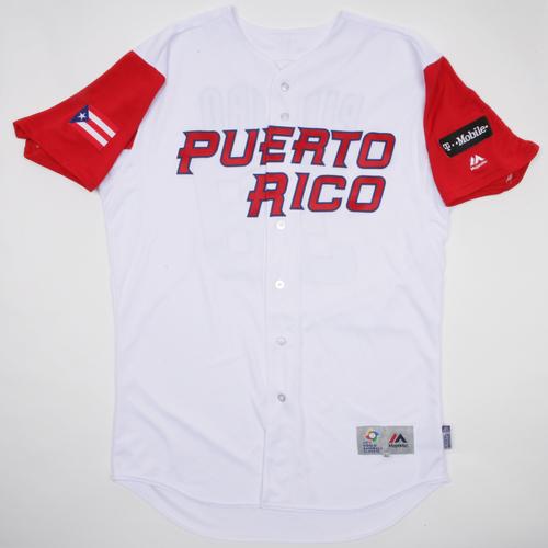 2017 World Baseball Classic: Molina #4 Puerto Rico Home Jersey