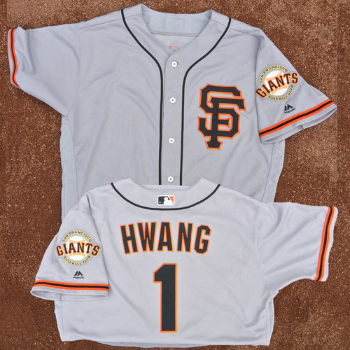 San Francisco Giants - Game-Used Jersey - Jae-Gyun Hwang - Worn on 7/30/17 - (Hwang vs Ryu of LA Dodgers)