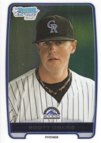 Photo of 2012 Bowman Chrome Draft Draft Picks #BDPP113 Scott Oberg -- Rockies post-season