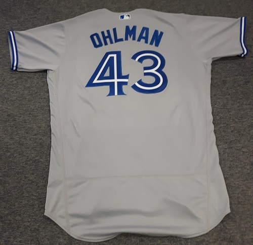 Photo of Authenticated Team Issued Jersey - #43 Mike Ohlman (2017 Season). Size 48.