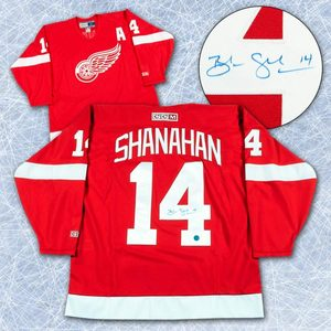 Brendan Shanahan Detroit Red Wings Autographed Retro CCM Hockey Jersey