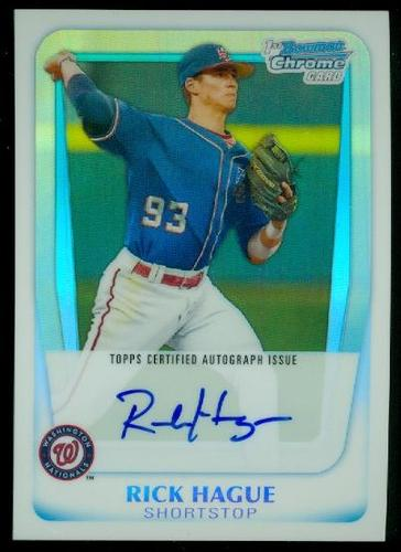 Photo of 2011 Bowman Chrome Prospect Autographs Refractors #BCP112 Rick Hague
