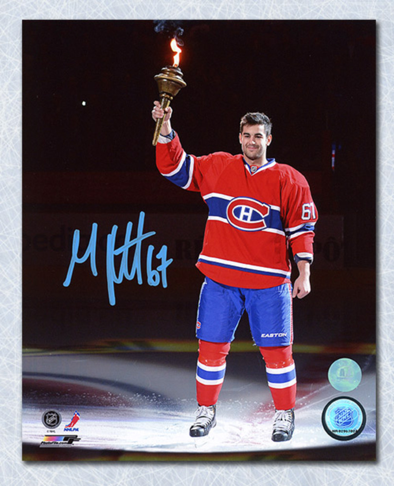 Max Pacioretty Montreal Canadiens Autographed Torch Ceremony 11x14 Photo