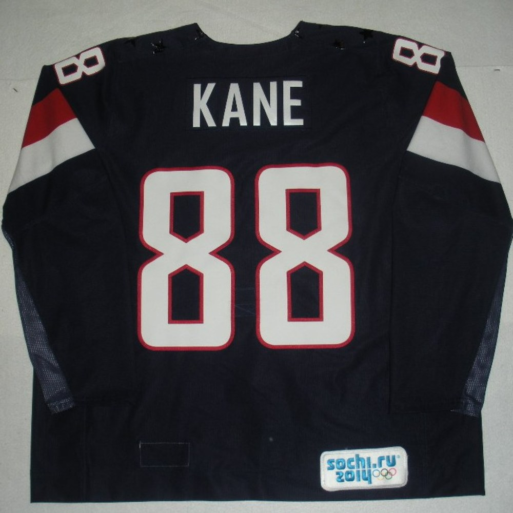 Patrick Kane - Sochi 2014 - Winter Olympic Games - Team USA Blue Game-Worn Jersey - Bronze Medal Game vs. Finland, 2/22/14