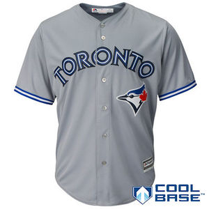 Toronto Blue Jays Men's Cool Base Road Jersey by Majestic