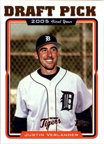 Photo of 2005 Topps #677 Justin Verlander Rookie Card -- Astros post-season
