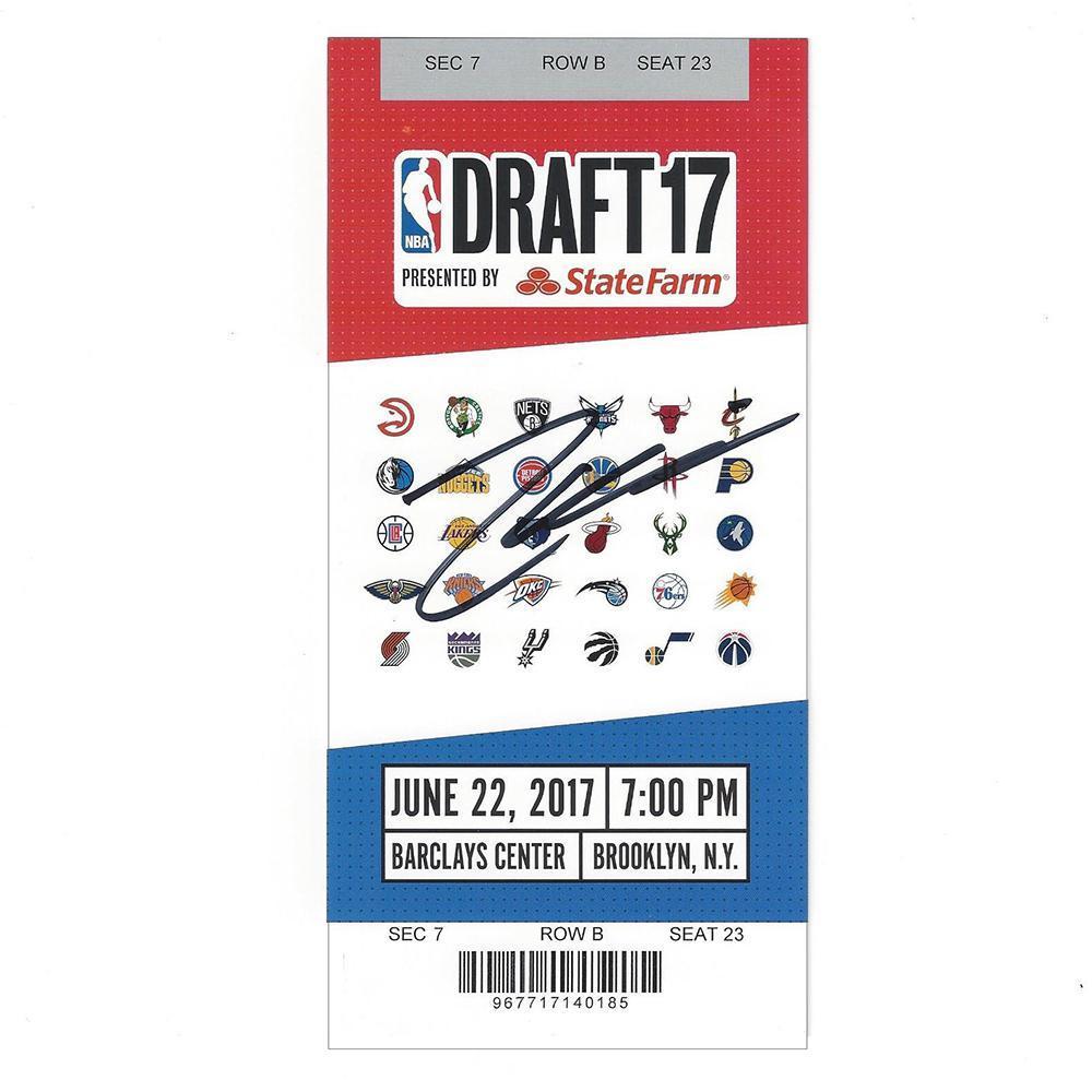 Zach Collins - Portland Trail Blazers - 2017 NBA Draft - Autographed Draft Ticket