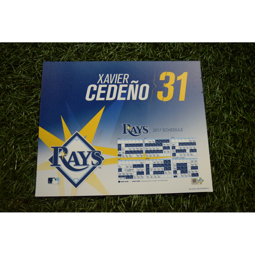 2017 Team-Issued Locker Tag - Xavier Cedeno