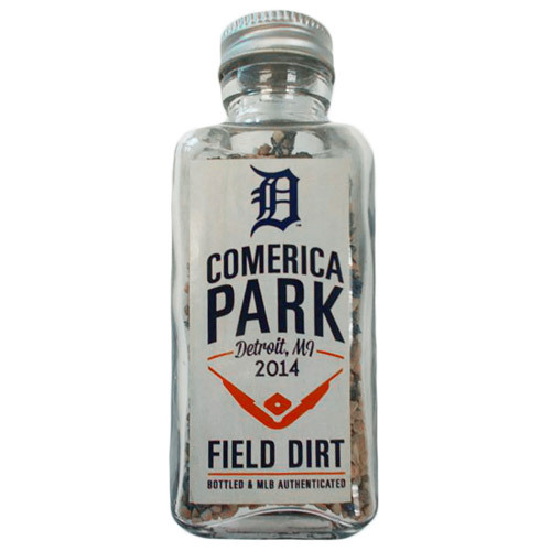 Photo of Detroit Tigers Bottled Dirt Jar from the AL Central Clinching Game