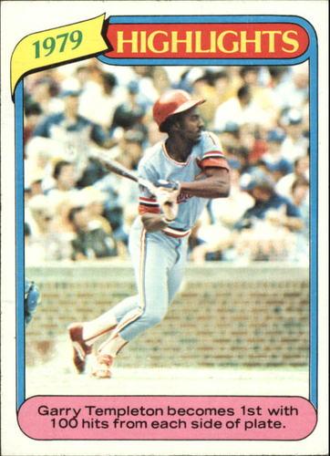 Photo of 1980 Topps #5 Garry Templeton HL