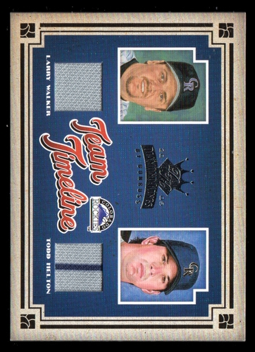Photo of 2005 Diamond Kings Team Timeline Materials Jersey #15 Todd Helton/Larry Walker/100
