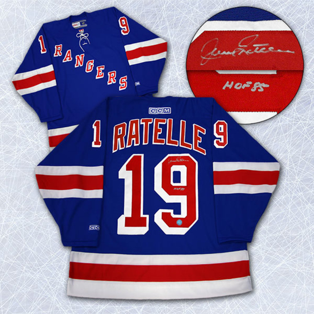 Jean Ratelle New York Rangers Autographed Hockey Jersey